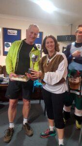 Paul Tucker receiving winners trophy at the 2019 Club Handicap