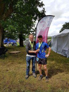 John Walker and Stuart Haig with medals after 2019 Endure 24