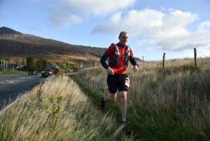 David Roy running the 2019 Snowdon 50