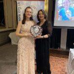 Clair Bailey with Steve Parker Award at 2020 Annual Awards Dinner