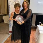 Linda Tyler with Chairmans Award at 2020 Annual Awards Dinner