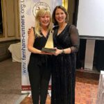 Vicky Goodluck with Prince Memorial Trophy at 2020 Annual Awards Dinner
