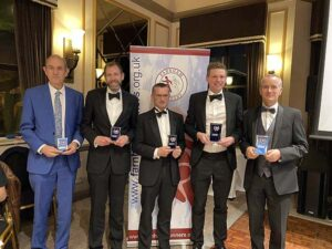 Mens Grand Prix winners with trophies at the 2020 Annual Awards Dinner