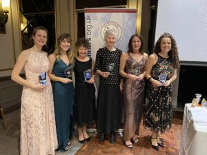 Ladies Grand Prix winners with trophies at the 2020 Annual Awards Dinner