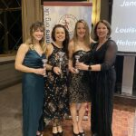 Ladies most person bests winners with trophies at the 2020 Annual Awards Dinner