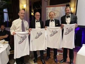 Mens T-shirt winners at the 2020 Annual Awards Dinner