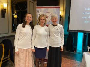 Ladies T-shirt winners at the 2020 Annual Awards Dinner
