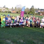 Group in fancy dress before start of the 2020 Club Handicap