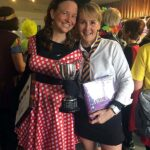 Winner Emma Campbell as Minnie Mouse and Right Runner up, Hannah Bence as St Trinians pupil at the 20202 Club Handicap