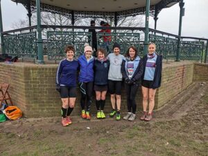 Ladies team before the 2020 National Cross Country Championships