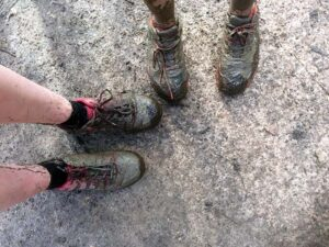 Muddy running shoes at the 20202 SXCL Alice Holt