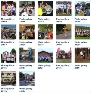 Screenshot of photo galleries