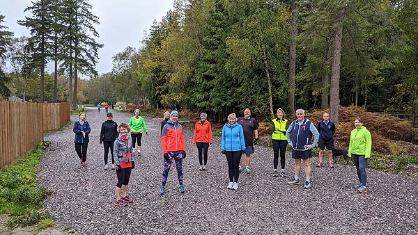 2020 Get Me Started course beginners group at Alice Holt Forest