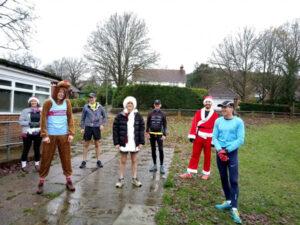 Runners prepare for their 2020 Covid Fancy Dress run