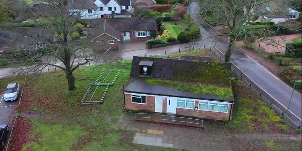 Club house viewed from the air