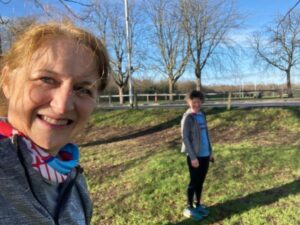 2021 Not Stubbington Green 10k - Billy McCulloch and Linda Tyler after their run their virtual race