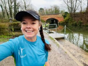 2021 Not Stubbington Green 10k - Jane Probett in a Stubbington Green 10km T shirt for the virtual race