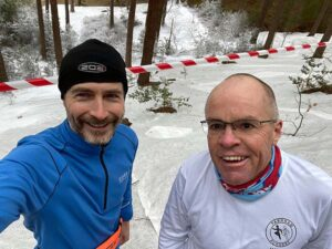 2021 Not Cross Country 2 Richard Denby and Justin Clarke in the virtual snow