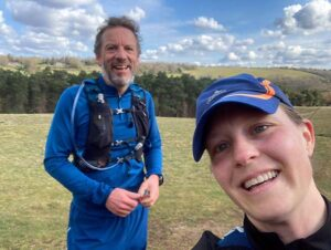 2021 - Chiltern Ridge Trail Run Ultra - Andy Brown and Gill Iffland en route