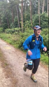 2021 - Chiltern Ridge Trail Run Ultra - Gill Iffland running