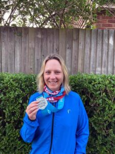 2021 - Chiltern Ridge Trail Run Ultra - Gill Iffland with her medal