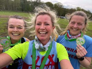 2021 - Woodland Woggle - Jane Probett, Vicky Goodluck and Helen Farrell with their medals