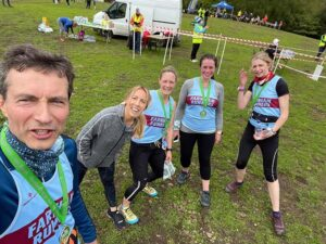 2021 - Woodland Woggle - Richard Denby, Marissa Lutrell, Gill Iffland, Niclola Hames and Catherine Timson with their medals