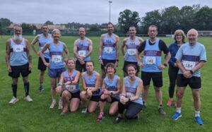 Farnham Runners group before the 2021 Alresford 10K