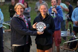 Kayleigh Copeland receives the Senior Ladies shield at the 2021 Club Championship