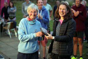 Gabi Hitchcock receives the Veteran Ladies' shield at the 2021 Club Championship