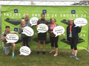 Keith Marshall, Carol Dare, Mark Maxwell, Rob Gilchrist, Jacquie Browne, Alison Mungall at 2021 Endure24