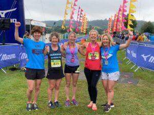 Dream Team at 2021 Endure24 celebrating their win - Lindsay Bamford, Linda Tyler, Kate Townsend. Vicky Goodluck, Gill Iffland
