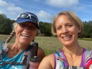 2021 North Downs Way 100 - Sarah Hill and Emma Pearson